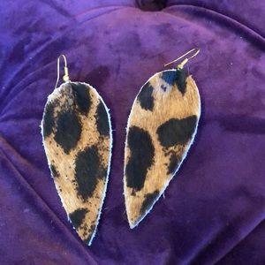 Jewelry - Leopard Calf Hair Earrings